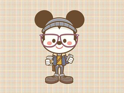 Little Hipster kawaii jmaruyama vector adobe illustrator illustration character design disney jerrod maruyama cute