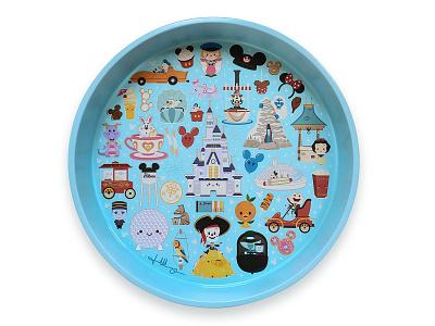 Disney x Jerrod Maruyama Serving Tray wonderground gallery vector disneyland adobe illustrator illustration kawaii character design disney jerrod maruyama cute