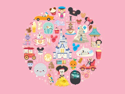 Disney x Jerrod Maruyama jmaruyama wonderground gallery vector adobe illustrator illustration character design disney kawaii jerrod maruyama cute