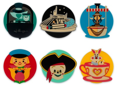 Coaster Set wonderground gallery adobe illustrator vector illustration jmaruyama character design disney kawaii jerrod maruyama cute