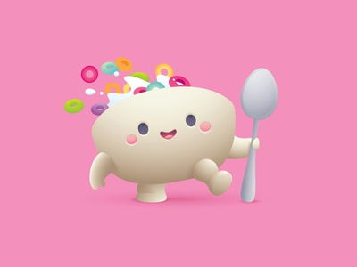 Cereal Boy vector adobe illustrator illustration character design kawaii jerrod maruyama cute