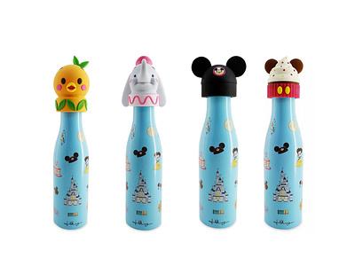 Disney x Jerrod Maruyama Water Bottle downtown disney disneyland wonderground gallery jmaruyama illustration character design kawaii disney jerrod maruyama cute