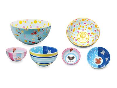 Disney X Jerrod Maruyama - Nesting Bowls vector wonderground gallery illustration adobe illustrator jmaruyama character design disney kawaii cute jerrod maruyama