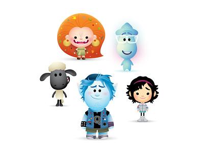 Animated Feature Nominees jmaruyama vector adobe illustrator illustration character design kawaii jerrod maruyama cute
