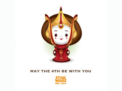 May The 4th Be With You 2014 star wars day 2014 star wars jerrod maruyama episode i lightsaber phantom menace queen amidala