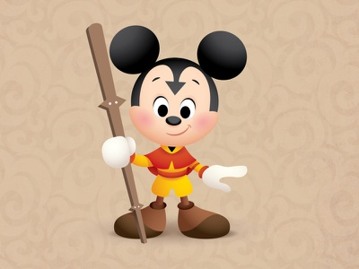 Mickey The Last Airbender quickie mickey vector jmaruyama adobe illustrator illustration kawaii character design disney jerrod maruyama cute