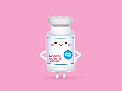 Vaccine vector adobe illustrator illustration jmaruyama character design kawaii jerrod maruyama cute