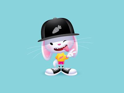 Bunny adobe illustrator vector jmaruyama illustration character design kawaii jerrod maruyama cute