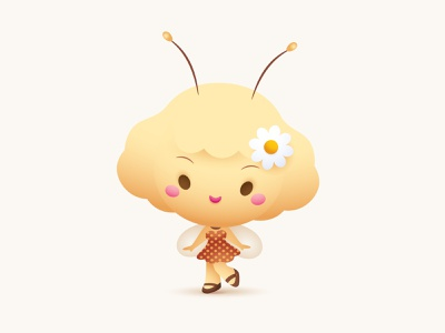 Little Bee Girl jmaruyama vector adobe illustrator illustration character design kawaii jerrod maruyama cute