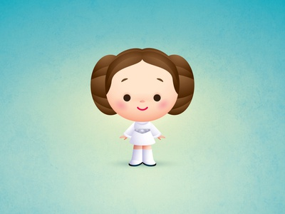 Little Leia starwars disney jmaruyama vector adobe illustrator illustration character design kawaii jerrod maruyama cute