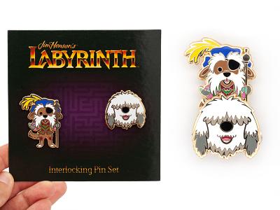 Labyrinth Pin Set pins labyrinth jmaruyama character design illustration jerrod maruyama
