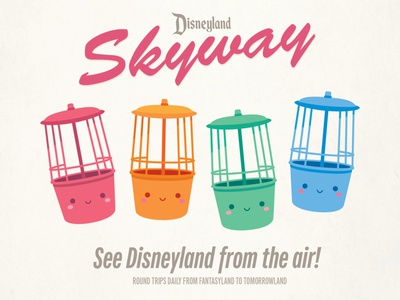 Disneyland Skyway jmaruyama illustration character design disney kawaii jerrod maruyama cute