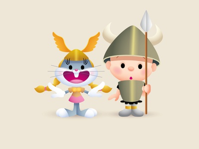 What's Opera, Doc? adobe illustrator vector illustration character design kawaii jerrod maruyama cute