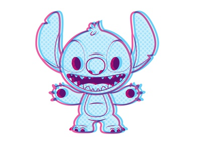 Stitch adobe illustrator vector jmaruyama illustration character design disney kawaii jerrod maruyama cute