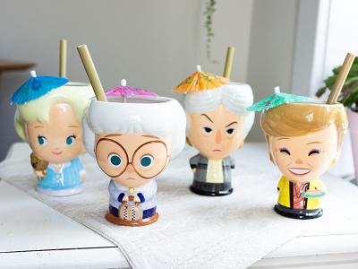 Golden Girls - Cupful of Cute merchandise cupful of cute beeline creative illustration character design kawaii jerrod maruyama cute