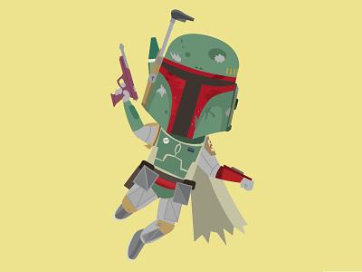Boba vector illustration character design jerrod maruyama star wars disney