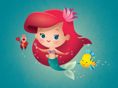 The Little Mermaid ariel disney the little mermaid jerrod maruyama kawaii cute
