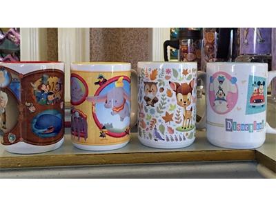 Mug Designs disneyland dumbo bambi pinocchio mickey mouse goofy