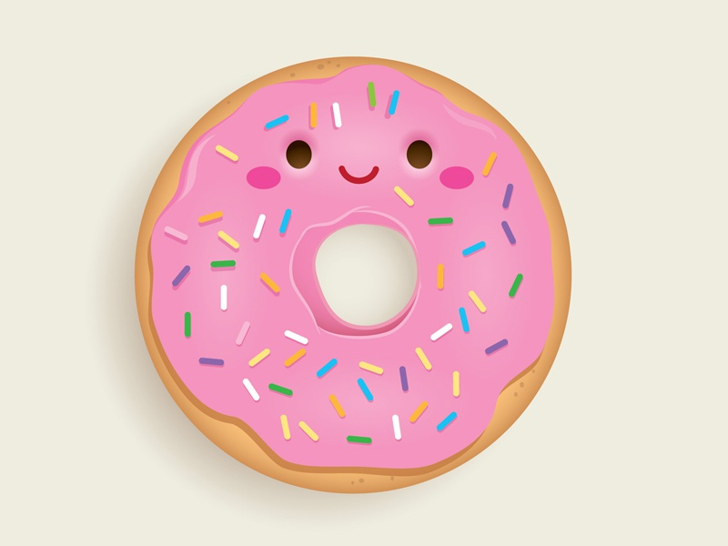 Happy National Doughnut Day donut doughnut doughnut day cute kawaii