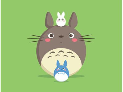 Totoro Circles kawaii cute totoro studio ghibli miyazaki japan