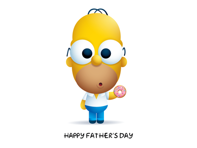 Homer donut fathers day the simpsons homer homer simpson
