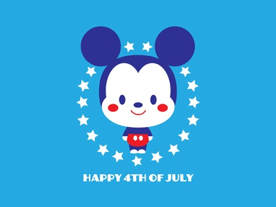 Happy 4th 4th of july mickey mouse disney