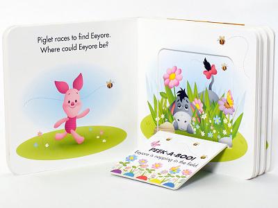 Peek-a-Boo Winne The Pooh baby board book illustration childrens books piglet eyore winnie the pooh jerrod maruyama disney baby disney