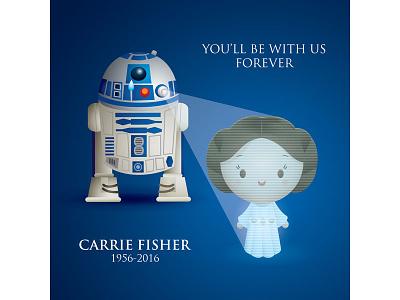Carrie Fisher jerrod maruyama r2d2 general organa leia organa star wars princess leia
