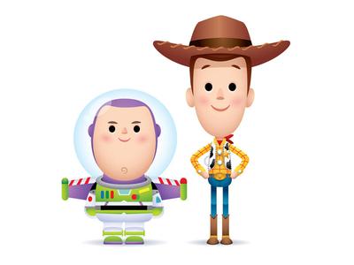 Buzz and Woody space ranger jerrod maruyama jmaruyama disney sheriff woody buzz lightyear toy story pixar