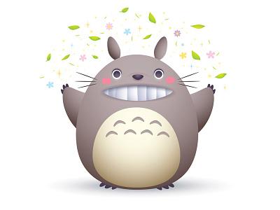 Spring Totoro my neighbor totoro kawaii cute jmaruyama studio ghibli totoro
