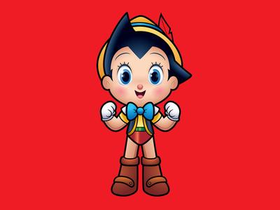 Astro Puppet Boy jerrod maruyama jmaruyama pinocchio astro boy
