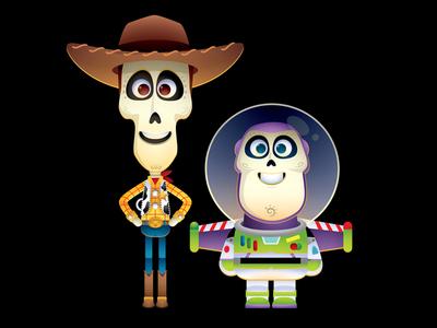 Toys of the Dead toys buzz lightyear woody jmaruyama coco disney pixar toy story