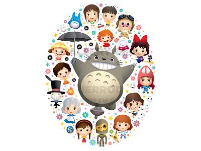 Little Ghiblies totoro crazy 4 cult gallery 1988 cute kawaii jerrod maruyama jmaruyama