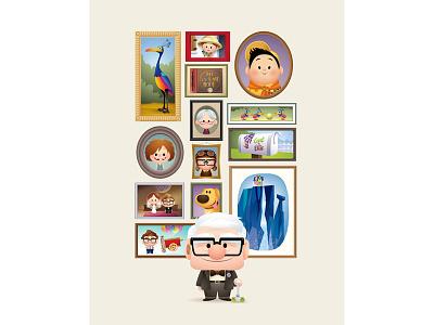 A Life of Adventure cute kawaii character design adventure is out there walt disney world epcot jmaruyama disney up pixar