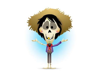 Hector character design illustration hector coco pixar disney