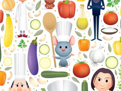 Remy's Recipe jmaruyama remy character design illustration food and wine festival california adventure disney pixar ratatouille