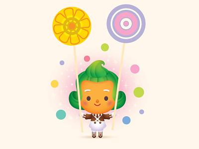 Oompa Loompa mascot icon kawaii cute jerrod maruyama jmaruyama illustration character design oompa loompa willy wonka
