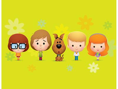 Meddling Kids kawaii cute character design illustration icon caricature sew cute jerrod maruyama jmaruyama squaredco gallery 1988 scooby doo