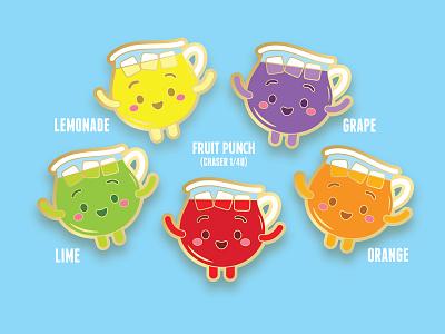 Kute-Aid Mystery Flavor Pack collectibles pins kawaii cute squaredco jerrod maruyama jmaruyama