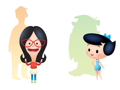 Better Half illustration character design dames kawaii cute jmaruyama leanna lins wonderland squared co