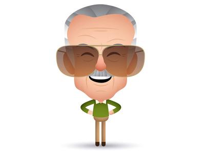 Excelsior! character design illustration caricatrue stan lee