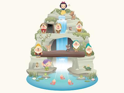Snow White Grotto disney princess kids cute illustration character design wonderground gallery snow white disney