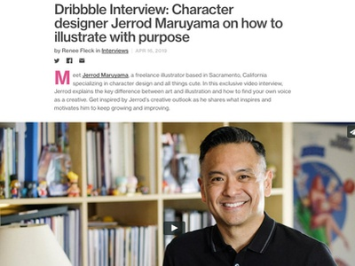 Dribbble Feature dribbble interviews character design illustration interview jerrod maruyama