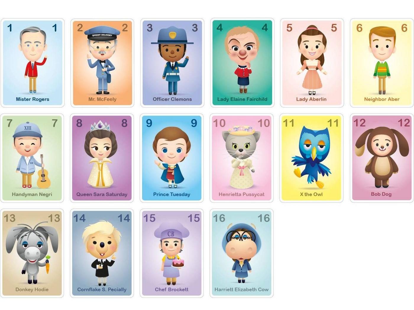 Mister Rogers' Neighborhood Game card game board game game design mister rogers childrens illustration cute character design adobe illustrator illustration art