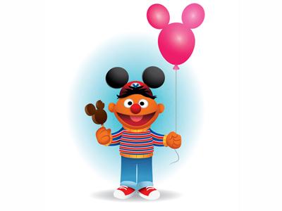 Ernie Goes To Disneyland