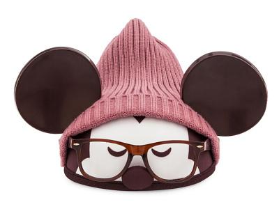 Hipster Mickey Designer Ears character design disneyland apparel