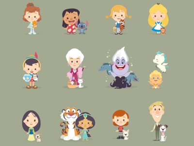 Cutie Pets kawaii cute character design disney