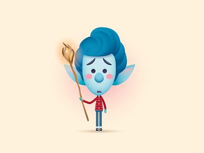 Onward adobe illustrator vector art vector onward kawaii cute disney pixar character design