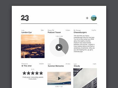 Web UI 23 website web white black simple minimalist blog ux ui user design