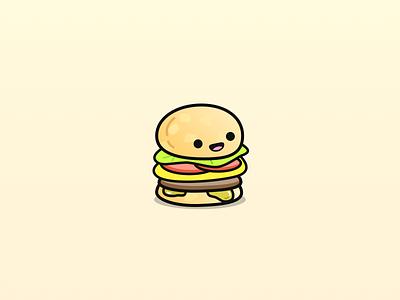 Happy Burger vector sketch illustration food burger hamburger cute